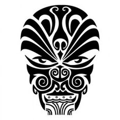Maori's warrior mask tatoo