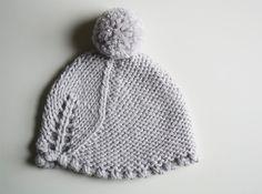 Le Grand Leaf Pom Pom Hat in Merino by purlBknit on Etsy