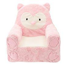 Animal Adventure Sweet Seats Owl Plush Chair  Pink