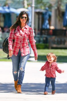 Kourtney Kardashian and Penelope in matching outfits