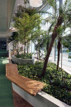 Two storey internal garden at WIPO Administration Building, Geneva, Switzerland