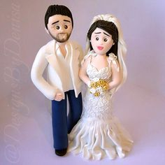 Personalized Wedding Cake Topper Figurines by DesignsByDenisa