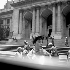 Vivian Maier was a nanny who lived in Chicago. She died in 2009 at the age of 83. She was an avid street photographer but her work was left undiscovered until 2007 when a storage facility was cleaning out her locker for delinquent rent. ! Beautiful work!