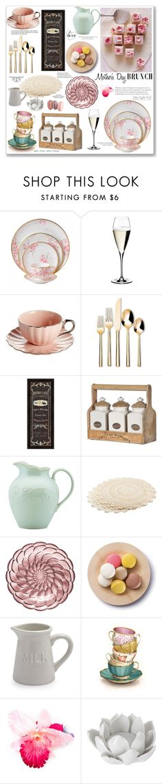 """Mother's Day Brunch"" by missblue1 ❤ liked on Polyvore featuring interior, interiors, interior design, home, home decor, interior decorating, Wedgwood, Riedel, Threshold and Lenox"