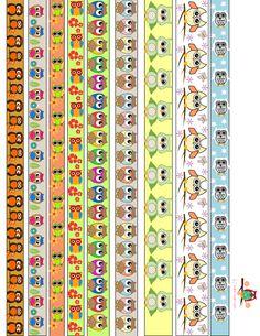 free printable owl washi tapes