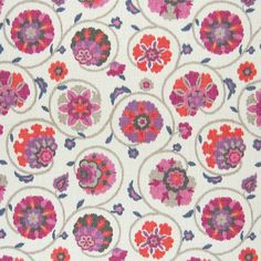 The G4377 Punch upholstery fabric by KOVI Fabrics features Floral, Ikat, Scroll, Suzani pattern and Pink, Purple as its colors. It is a Cotton, Made in USA, Print type of upholstery fabric and it is made of 100% Cotton material. It is rated Exceeds 15,000 double rubs (heavy duty) which makes this upholstery fabric ideal for residential, commercial and hospitality upholstery projects.For help please call 800-860-3105.