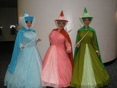 Sleeping Beauty Fairy Godmothers costumes