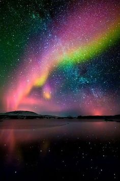 Colorful aurora borealis sky night lights nature stars pretty colors amazing aurora borealis northern