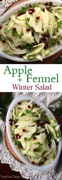 This apple fennel winter salad is a refreshing dish to add to the holiday dinner table. Or a great side to balance out your dinner plate any night of the week. Granny smith apples and fennel are two ingredients I pretty much have on hand at all times in the fall. I love how they balance...