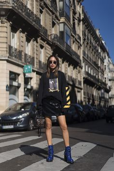 aimee_song_of_style_paris_fashion_week_off_white_hoodie_louis_vuitton_skirt_ahlem_sunnies