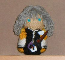 Handmade amigurumi doll based off the character Riku from the game Kingdom Hearts.