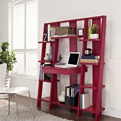 space-saving-ladder-desk-and-bookcase