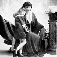 Queen Marie of Romania with Her Daughter Ileana