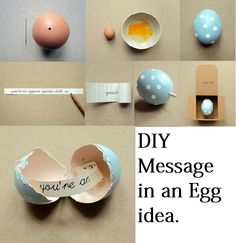 Message in an egg for a dinner party, clues maybe