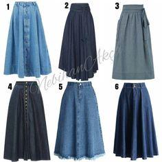 Likes, 395 Comments - Nebihan A . Street Hijab Fashion, Muslim Fashion, Denim Fashion, Modest Fashion, Fashion Dresses, Maxi Skirt Style, Skirt Outfits, Dress Skirt, Maxi Skirts