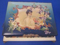 Vintage Celluloid Victorian Photo Album & Music Box