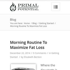 My morning routine is KEY to my #fatloss #success. Seriously. Where the day starts, it stays. The majority of very successful people in any field protect their mornings and use them to springboard them into a productive day. The details of mine are up on the blog today!! #weightloss #loseweight #motivationmonday #cleaneating #eatrealfood #healthy