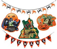 Disney Star Wars Party Supplies Halloween Decoration Kit and Confetti with Darth Vader Banner Boba Fett and Yoda Sign and Fighter Garland Disney Star Wars Party Decorations, Halloween Decorations, Star Wars Halloween, Holidays Halloween, Star Wars Party Supplies, Star Wars Boba Fett, The Force Is Strong, Star Wars Collection, Disney Star Wars