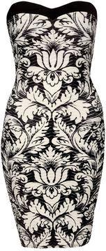 Jane Norman Printed bandeau wave dress on shopstyle.co.uk