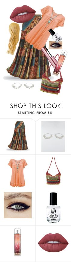 """""""Gypsy Peasant Woman"""" by ilovewriting22 ❤ liked on Polyvore featuring Full Tilt, The Sak, Too Faced Cosmetics, Seche and Lime Crime"""