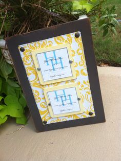 Wood fabric frame by HiggiHouse on etsy.com