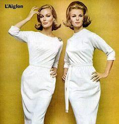1962 advertisement of a L'aiglon wiggle dress.