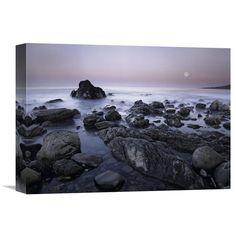 Global Gallery Full Moon Over Boulders at El Pescador State Beach Malibu California Wall Art - GCS-395912-1216-142