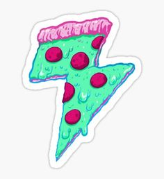 Thunder Neon Pizza Pegatina