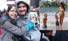 Nick Vujicic, a preacher born without limbs, knows all too well that everyone needs a hug sometimes, so today he was offering a comforting embrace to tourists, left, in New York's Times Square. The Australian, who was taunted at school because of a medical condition that left him without arms and legs, was in New York to promote his book. The 31-year-old was in Times Square as part of his anti-bullying 10,000 Hugs Tour.