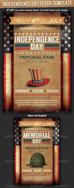 July 4Th Independence Day Flyer Template - Party Flyer Templates