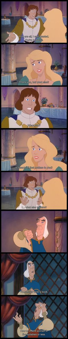 The Swan Princess, teaching little girls about how men don't think before they speak since 1994…