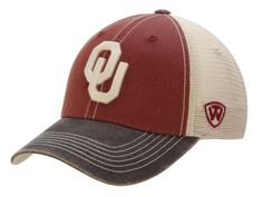 Oklahoma Sooners Top of the World Red Gray Offroad Adjustable Snapback Hat Cap