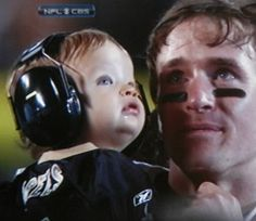 Drew Brees - I love this moment.  Who Dat forever!