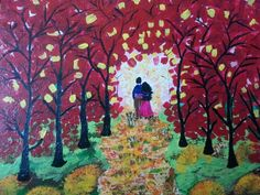 Fall paintings in acrylic