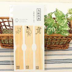 Choju-Giga Natural Wood Bookmark: JSHOPPERS.com