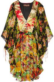 Duro Olowu Printed georgette and satin dress