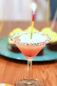 birthday cake martini. Hello 21st birthday drink! by leann