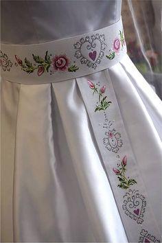 zeiko / maľovaný opasok - biele plátno Hand Painted Dress, Jasmine, Textiles, Skirts, Painting, Accessories, Clothes, Dresses, Fashion