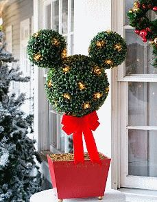 completely love this for my entry way during the holidays mickey mouse christmas tree christmas - Disney Outdoor Christmas Decorations
