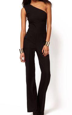 992372cd69f1 Oblique Shoulder Wide Leg Jumpsuit 18.00 Viria