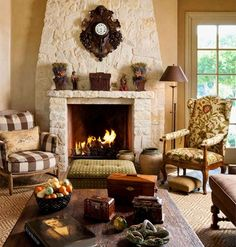 French Country - traditional - family room - dallas - Chambers Interiors & Associates, Inc.