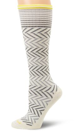 Sockwell Women's Chevron Circulator Sock           ($24.95) http://www.amazon.com/exec/obidos/ASIN/B0091OKWV8/hpb2-20/ASIN/B0091OKWV8 I wear these everyday I work. - The toe area has a bit of room left but I like that because when I slip my feet into boots the toe area doesn't end up getting all tight and uncomfortable. - Great compression even through my 12 hour shifts.