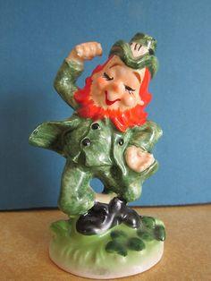 Vintage Lefton St. Patrick's Day Leprechaun