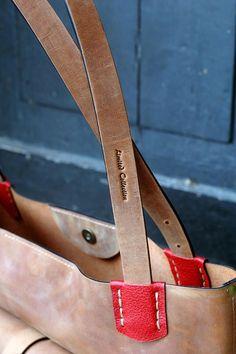 Leather Tote Bag GINGER handmade leather bag vintage hobo