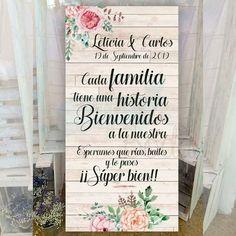 Precioso cartel de gran tamaño para dar la bienvenida a los invitados de tu boda desde sólo 16€! Texto personalizado. Envío gratis!