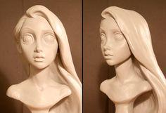 Animation Art — Rapunzel character sculptures for Tangeld by Kent...