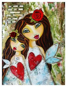 We May Not Have it all Together Fine Art Print of Mixed Media painting