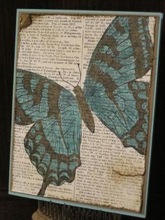 Baked Coastal Butterfly-Stamp Sets: Dictionary, Swallowtail Card Stock: Very Vanilla, Baked Brown Sugar, Coastal Cabana Ink: Black Stazon, Baked Brown Sugar and Coastal Cabana markers