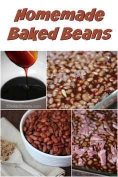 Easy recipe for Homemade Baked Beans from scratch | 5DollarDinners.com