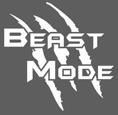"""BEAST MODE"" Die Cut Decal Custom Size and Color Welcome and thanks for stopping by. Your business means a lot to us and we want to be you first choice for all your decal/sticker needs. We do all kind"